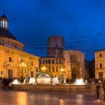 Altstadt von Valencia am Abend