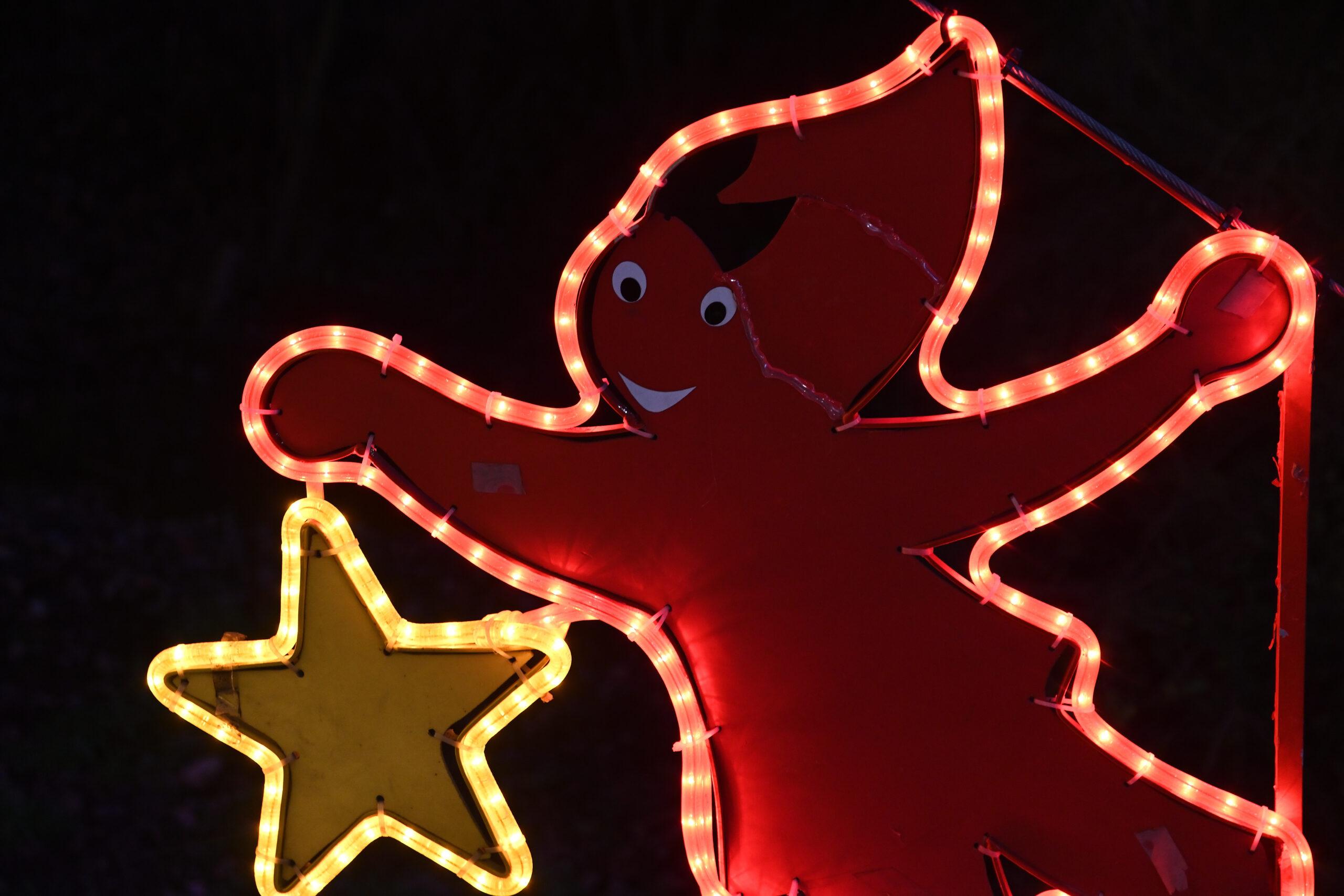 Weihnachtliche Lichter und Farben