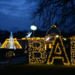 Weihnachtsbeleuchtung im Kurpark Bad Oeynhausen