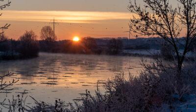 Wintermorgen an der Weser